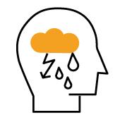 Symbolgrafik zu Befindlichkeit: Depressive Verstimmung