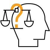 Symbolgrafik zu Befindlichkeit: Entscheidungsschwierigkeiten
