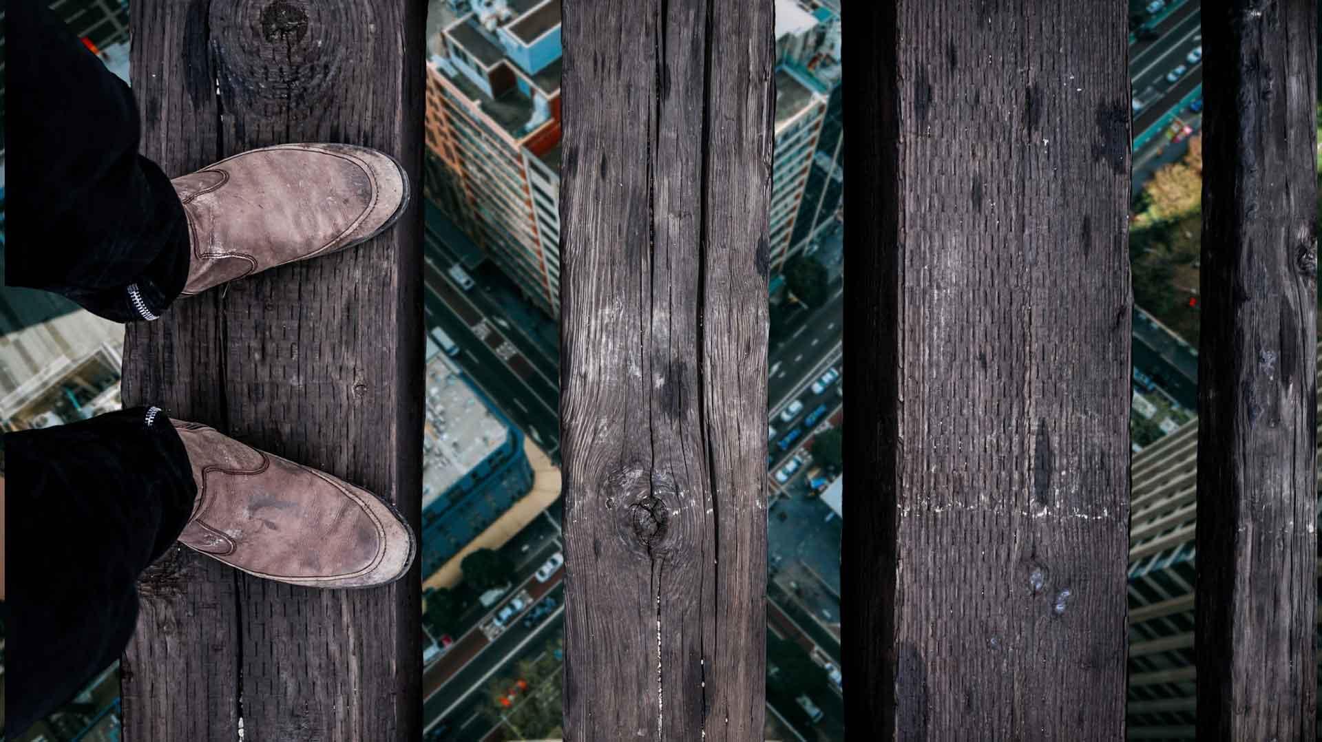 Symbolbild zum Thema Höhenangt